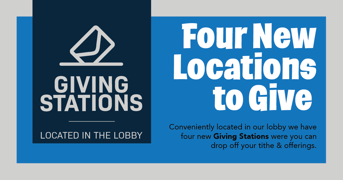 New Giving Stations