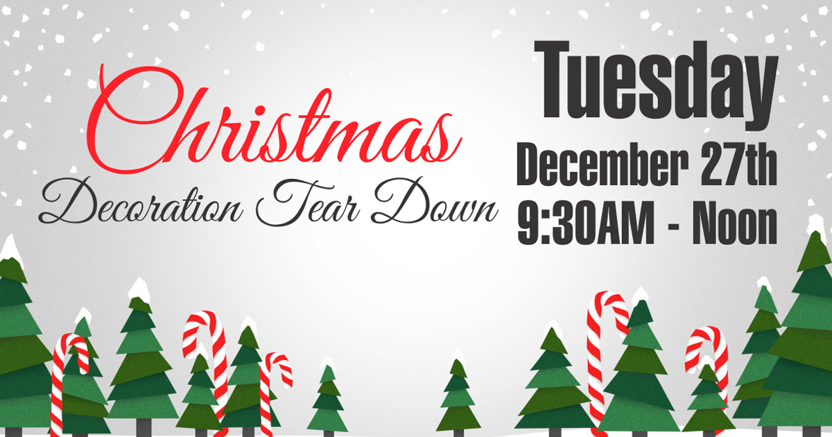 christmas tear down can you help - When To Take Down Christmas Decorations